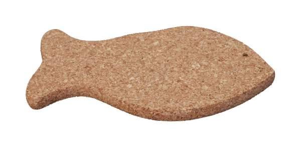 Untersetzer für (mittelgroße) Töpfe und Pfannen in der Form eines Fischs kaufen (Naturkork)