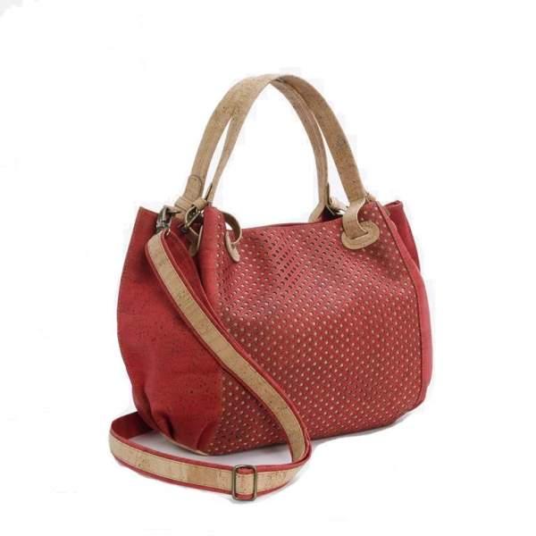 Rote Kork-Handtasche