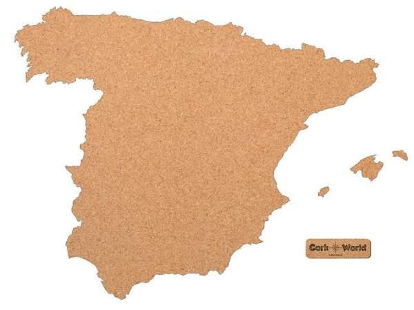 Spanienkarte Pinnwand