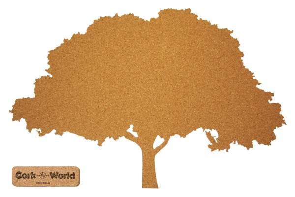 Kork-Pinnwand in der Form eines Baums