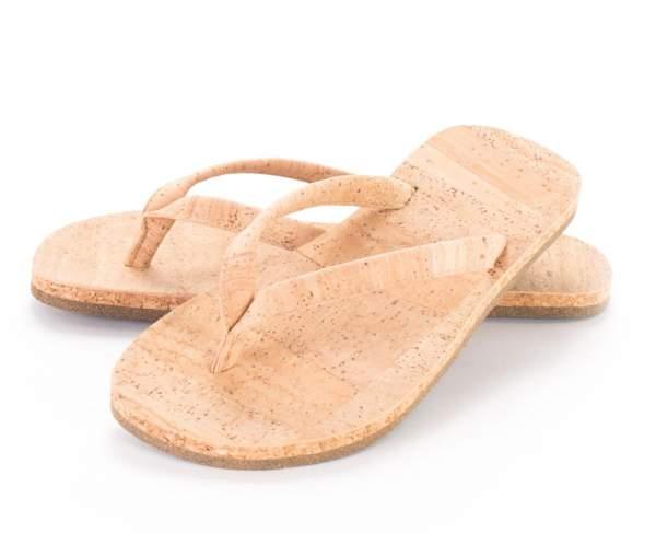 Schicke, vegane Bade-Schuhe (Zehentrenner) aus Kork kaufen Größe: EU 41 | US 10.5