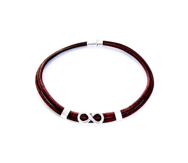 Halskette mit Infinity-Symbol aus Kork kaufen