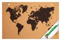 Pinnwand Weltkarte aus Kork 90x60cm bedruckt kaufen