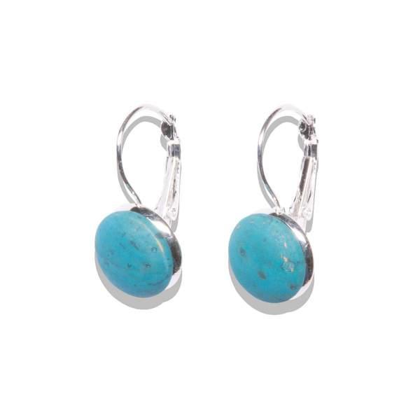 Stylischer Ohrring in Blau