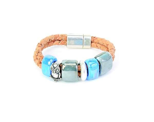 Kork Armband türkies kaufen