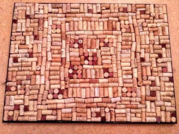 Diy Bau Anleitung Pinnwand Aus Gebrauchten Wein Korken Selber Bauen