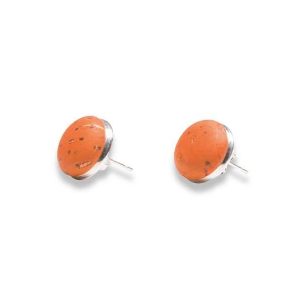 Kork-Ohrstekcer orange
