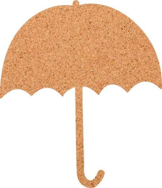 Kork-Pinnwand Regenschirm