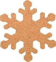 Kork-Pinnwand Schneeflocke