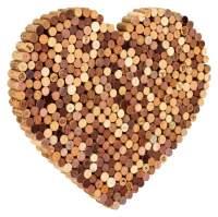 Herz aus gebrauchten Wein-Kork