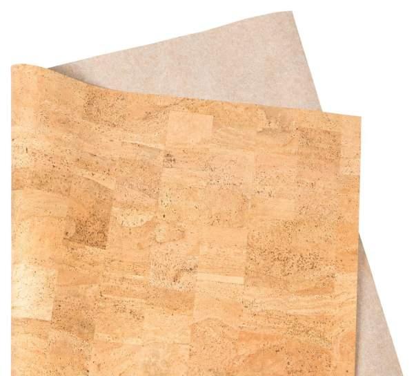Korkpapier / Kork-Papier, Dekor: NATURAL, 140 cm breit