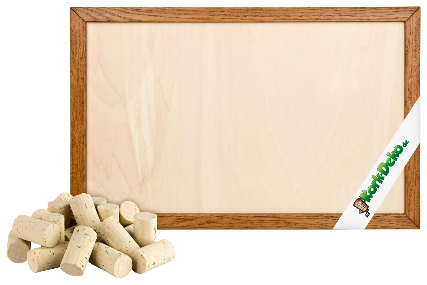Pinnwand aus neuen korken selber bauen korken und holz rahmen im set - Pinnwand selber bauen ...
