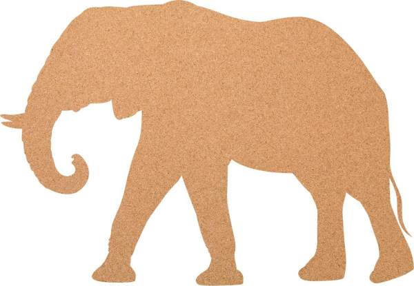 Kork-Pinnwand Elefant