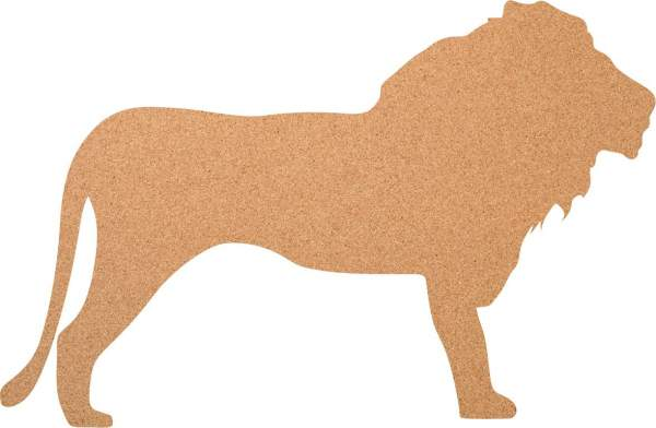 Kork-Pinnwand Löwe