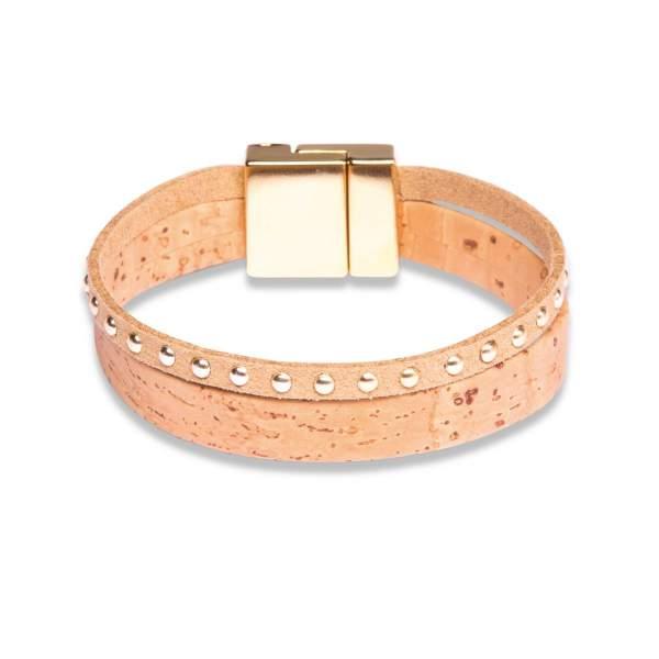 Breites Kork-Armband mit attraktiven Extras