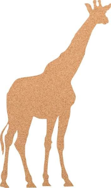 Kork-Pinnwand Giraffe