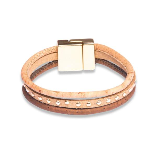 Kork-Armband dreifarbig