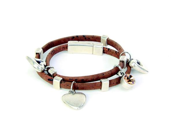 Kork-Armband mit Anhängern kaufen