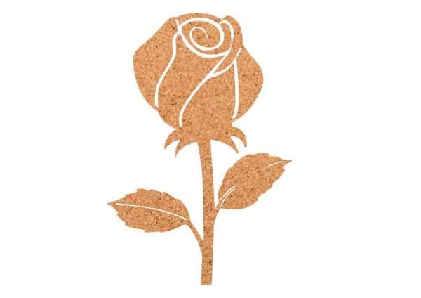 Kork-Pinnwand Rose