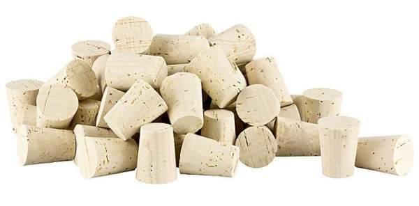 Spitzkorken 20-25mm kaufen. Für Weinflaschen, Getränkeflaschen oder als Kork-Verschluss (Stopfen) für andere (Glas-)Gefäße mit einem Innendurchmesser von ca. 19 bis 24 mm).