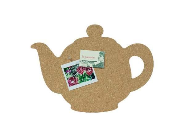 Pinnwand in Form einer Teekanne aus Kork kaufen