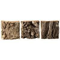 Natur-Korkrinde, 3 Stück, gleich groß bestellen (Modellbau/Krippenbau)