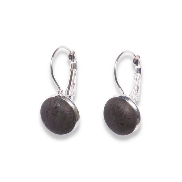 Stylischer Ohrring in Schwarz