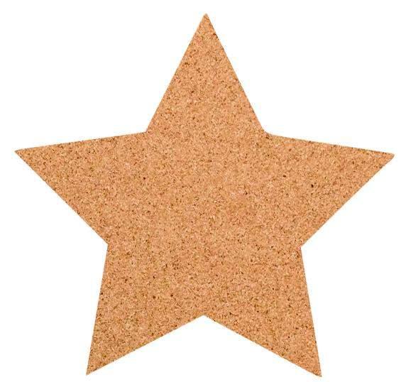 Kork-Pinnwand Stern
