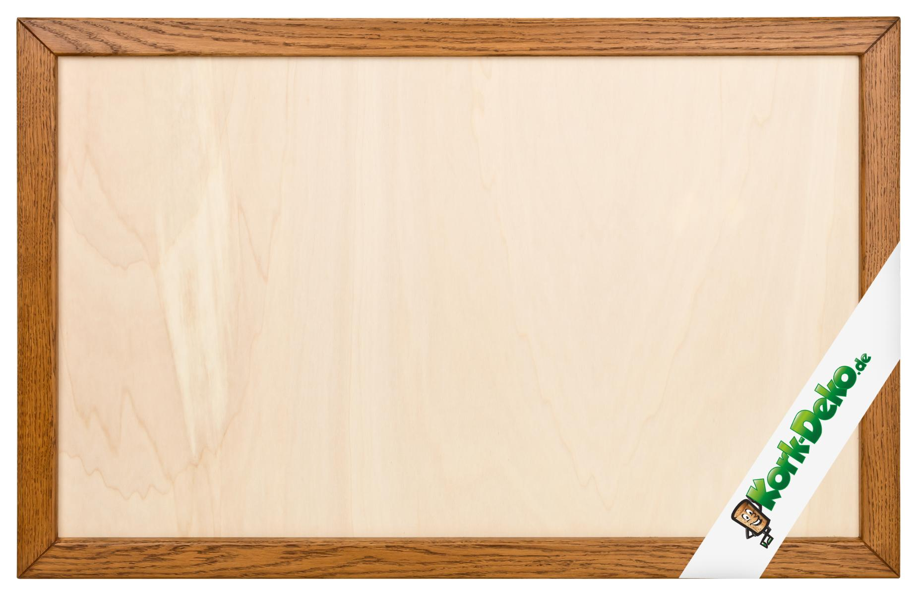 Leerer Massivholz-Rahmen (Eiche hell) zum Bau einer Pinnwand 90x60cm ...