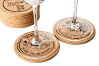 Korkuntersetzer für Gläser und Tassen