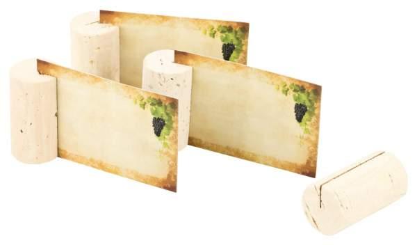 Tischkärtchen für Namensschilder der Gästenamen aus Weinkorken kaufen