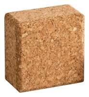 Geometrische Form aus Kork | Quader aus Presskork | 6 x 6 x 3 cm