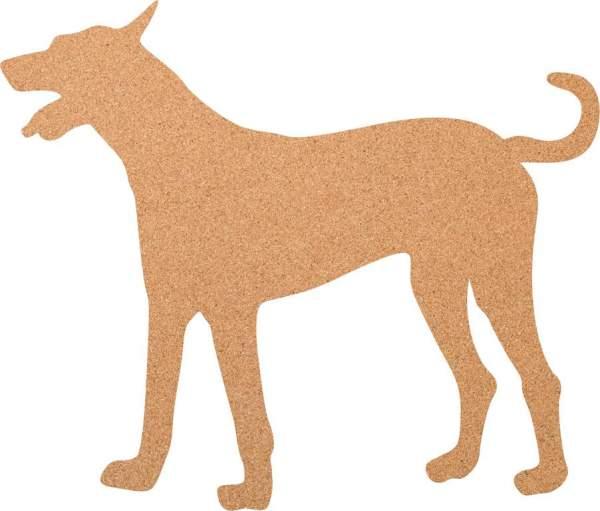 Kork-Pinnwand Hund
