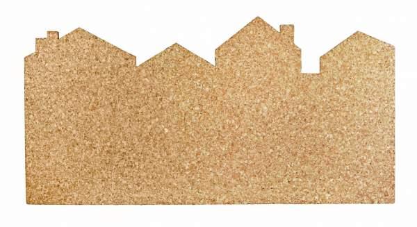 Pinnwand aus Kork mit Stadtsilhouette kaufen