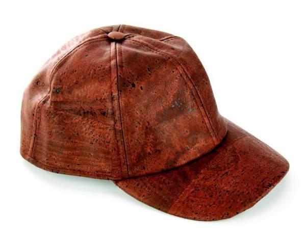 Basball Cap aus Kork dunkelbraun