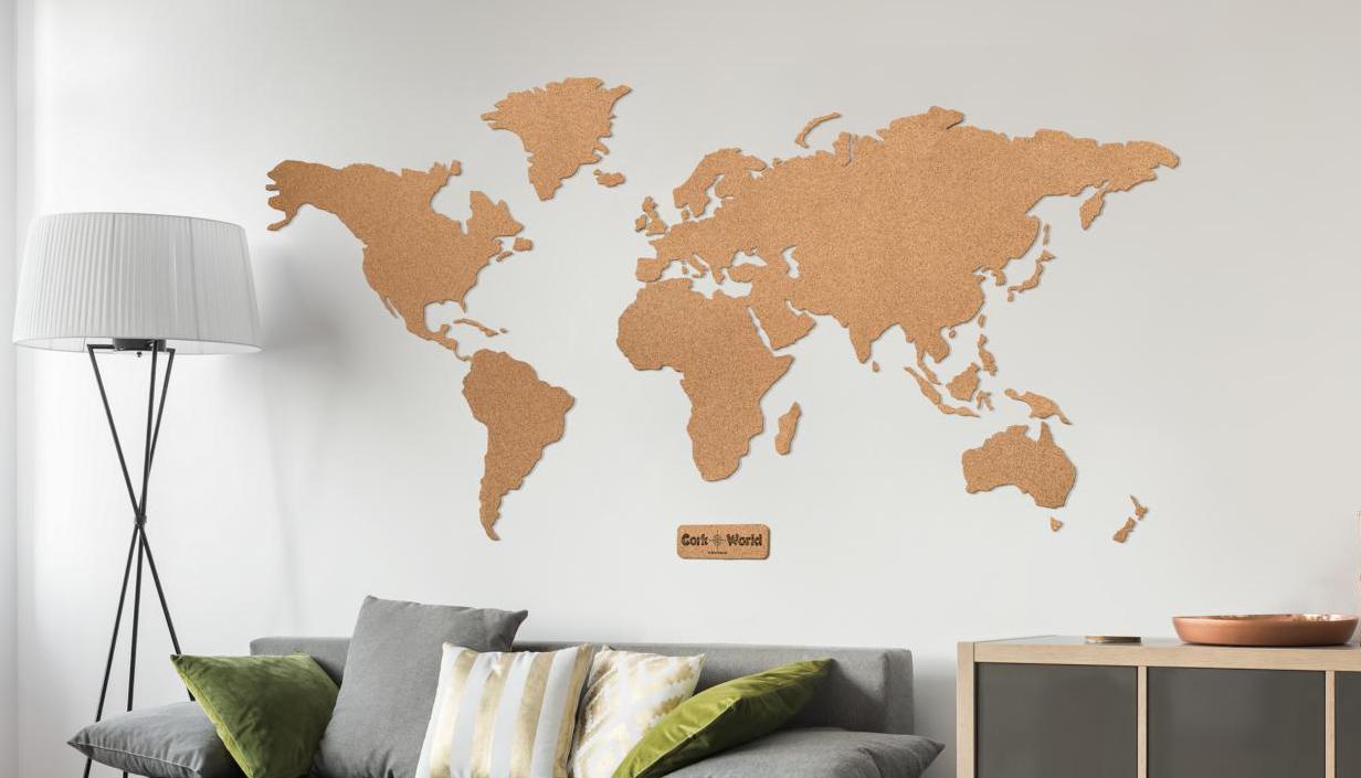 Weltkarte Kork XXL 210 x 105 cm Detailgenau /& Hochwertig F/ür Weltenbummler /& Vielreisende Umrisse Welt zum Pinnen und als Wanddeko| Tolle CORKWORLD Pinnwand Kork
