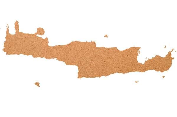 Kork-Pinnwand Kreta