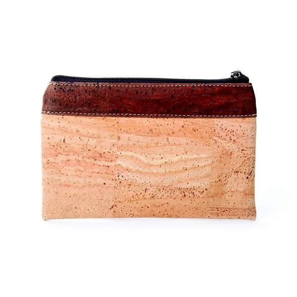 Etui aus Kork-Leder / Korkstoff (Etui, Mäppchen, kleine Kork-Tasche) kaufen, hellbraun/braun
