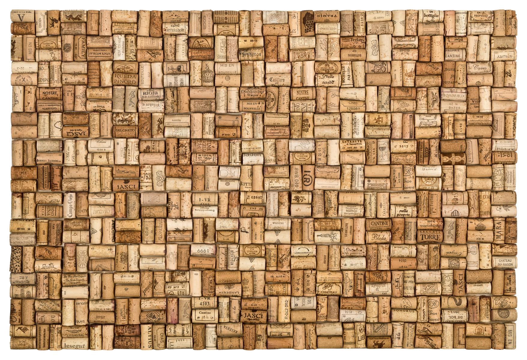 Gut bekannt XL Pinnwand aus gebrauchten Korken /Weinkorken 90x60cm fertig FG06
