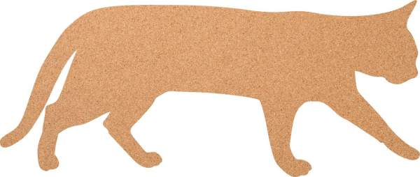 Kork-Pinnwand Gehende Katze