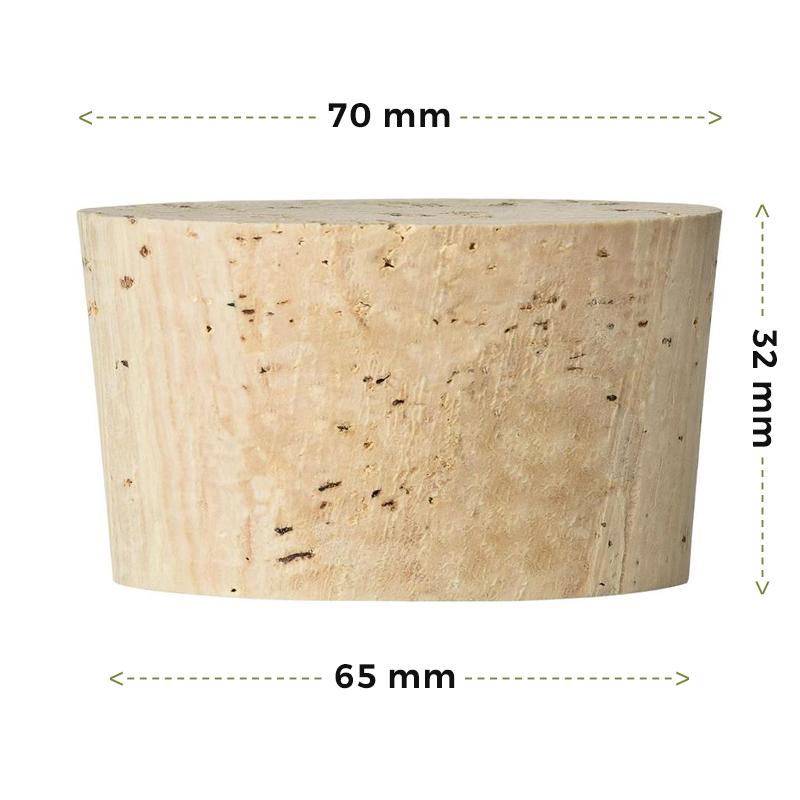Fasskorken Größen 32x70/65mm kaufen