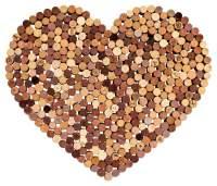 Herz aus Korken für Hochzeit oder als Pinnwand