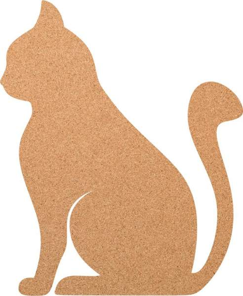 Kork-Pinnwand Sitzende Katze