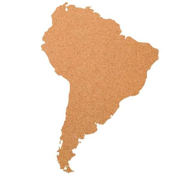 Kork-Pinnwand Süd Amerika