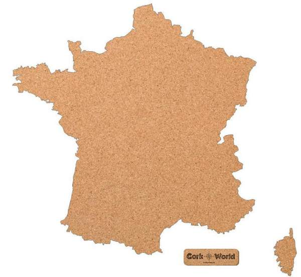 Frankreichkarte Pinnwand