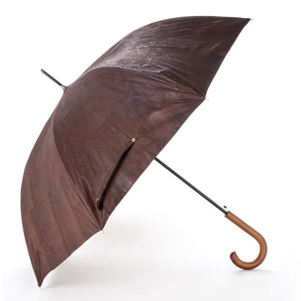 Kork-Schirm (Schirm aus Korkstoff) 89 cm, braun