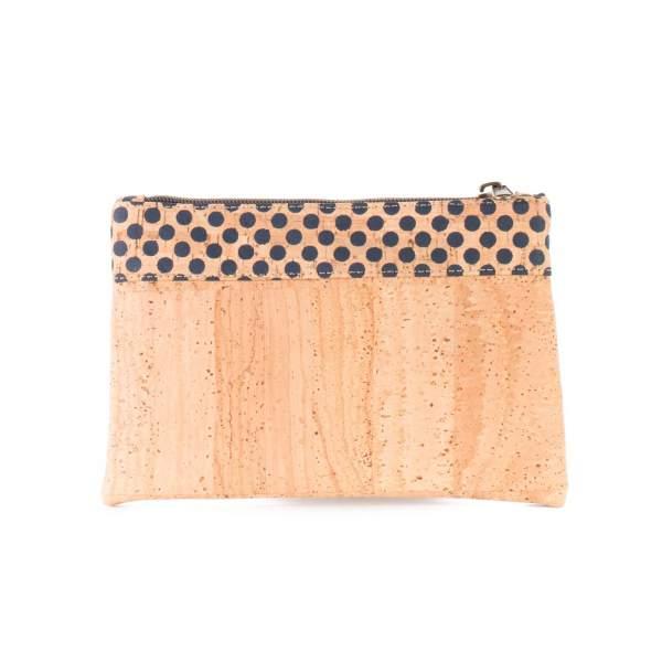 Dunkelblaues Etui aus Kork-Stoff  / Korkleder (Etui, Mäppchen, kleine Kork Tasche) kaufen, dunkelblau