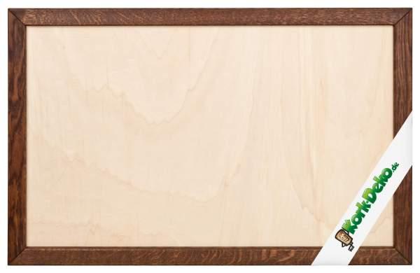 Holzrahmen aus Eiche, dunkel gebeizt zum Selberbauen einer Pinnwand (DIY)