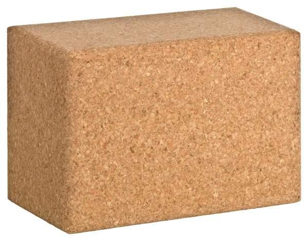 XXL Yoga Block aus Kork, extra dicker Korkklotz für Yoga-Übrungen (23x15x10 cm)