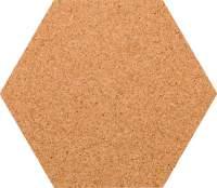 Kork-Pinnwand Hexagon